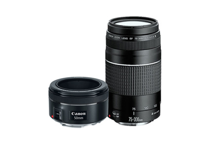 Kit EF 75-300mm III + EF 50mm 1.8 STM