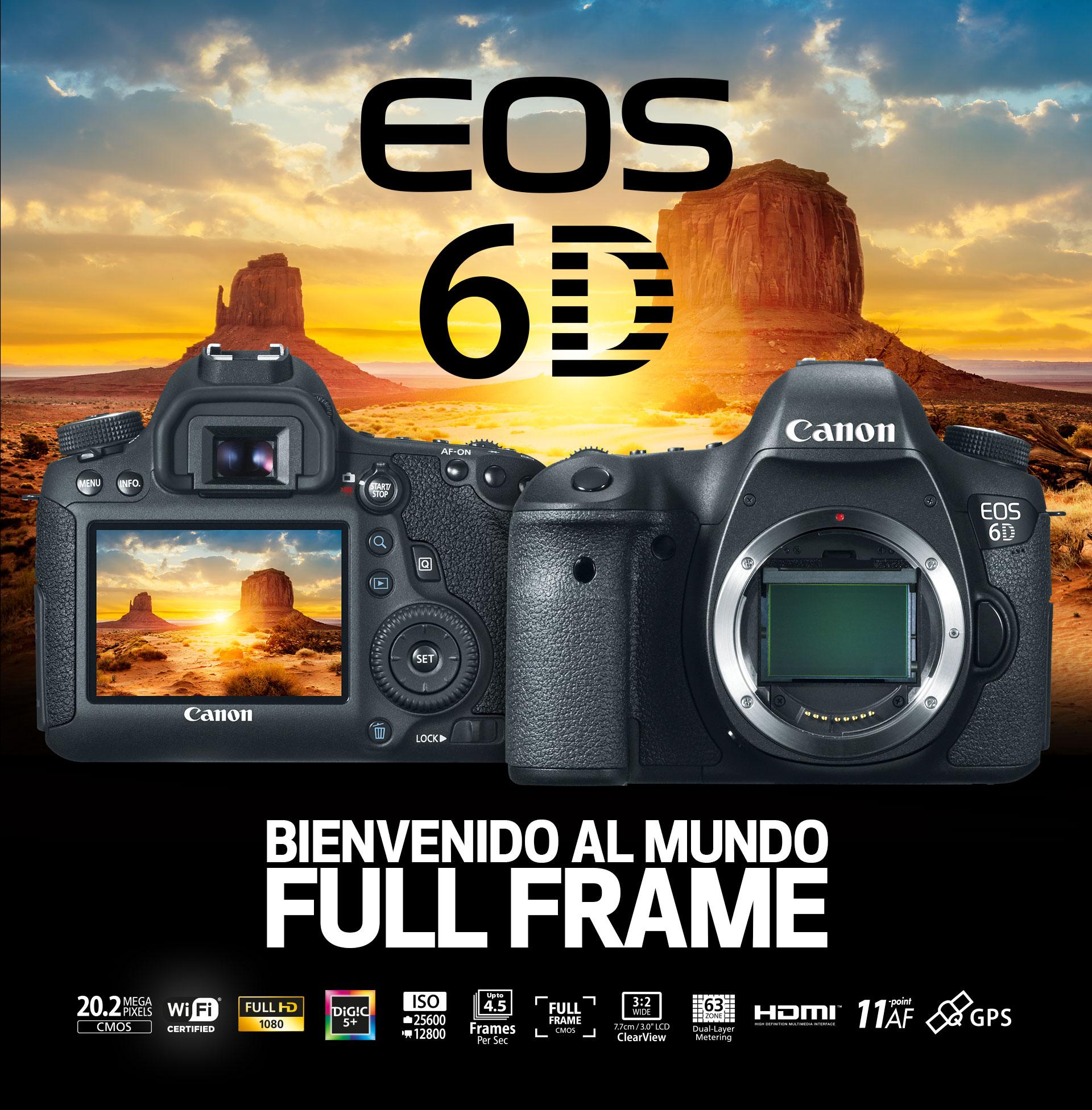 Cámara EOS 6D Cuerpo | Tienda Oficial Canon