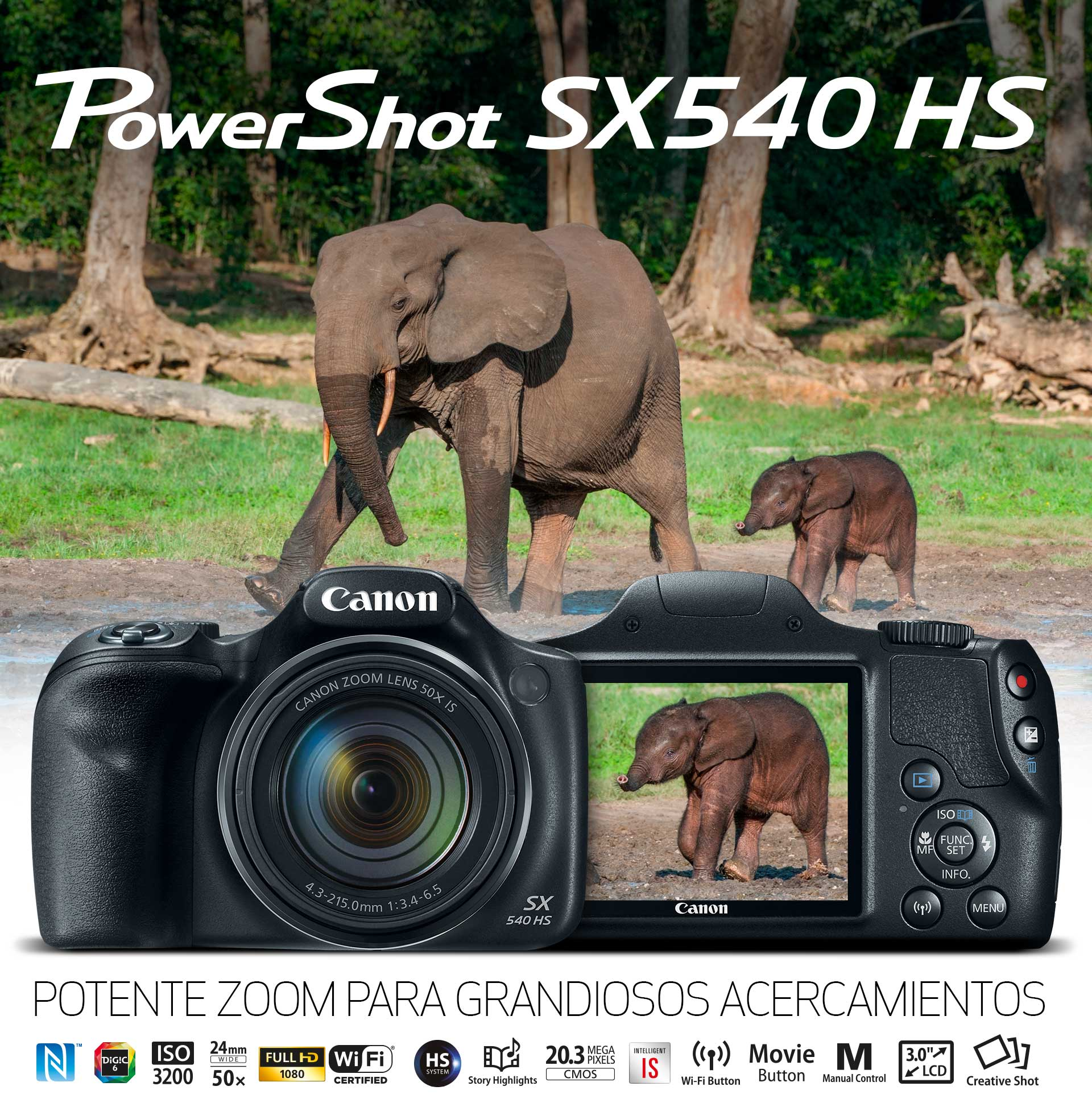 PowerShot SX540 HS: POTENTE ZOOM PARA GRANDIOSOS ACERCAMIENTOS